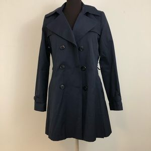 DKNY Navy Trench Coat